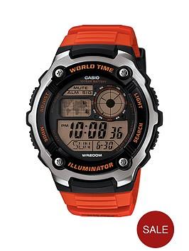 casio-mens-digital-watch-with-orange-strap