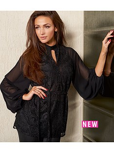lipsy-michelle-keegan-high-neck-long-sleeved-lace-blouse