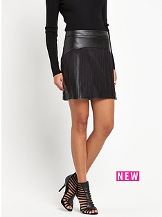 lipsy-lipsy-fleur-east-faux-leather-tasselled-mini-skirt