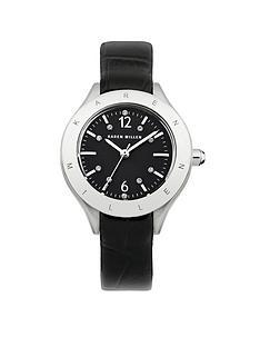 karen-millen-karen-millen-black-dial-with-black-leather-strap-ladies-watch