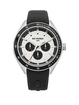 Ben Sherman Ben Sherman White Multi Dial With Black Silicone Strap Mens Watch