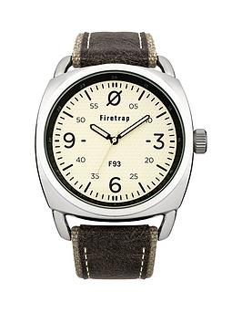 Firetrap Firetrap Champagne Dial With Grey Canvas Strap Mens Watch
