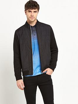 boss-green-mixed-fabric-full-zip-jacket