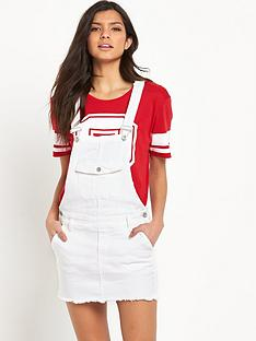 hilfiger-denim-dungaree-skirt