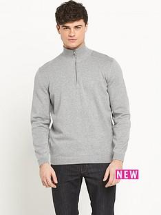 boss-green-frac14-zip-mens-knitted-top