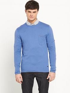 boss-orange-pocket-detail-crew-neck-jumper