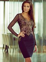 Michelle Keegan Gold Front Applique Dress