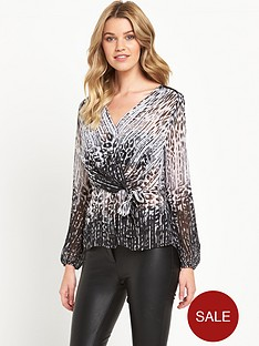 lipsy-lipsy-mono-animal-print-wrap-blouse