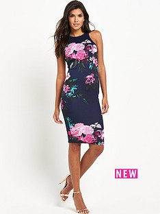 ax-paris-cut-in-floral-midi-dress