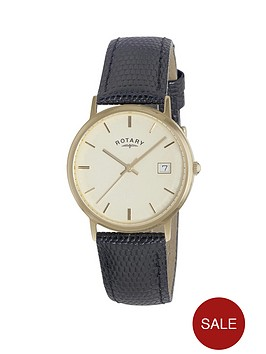 rotary-champagne-dial-precious-metal-gold-bezel-black-leather-strap-mens-watch
