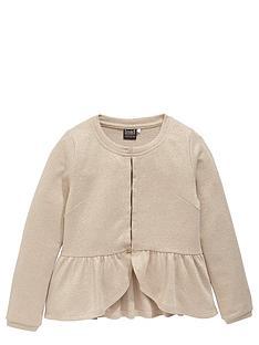 name-it-girls-metallic-knitted-peplumnbspcardigan