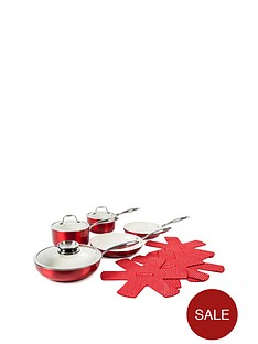 9-piece-ceramic-pro-metallic-pan-set-red