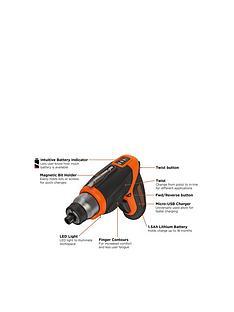 black-decker-cs3653lc-gb-premium-36-volt-cordless-lithium-ion-screwdriver