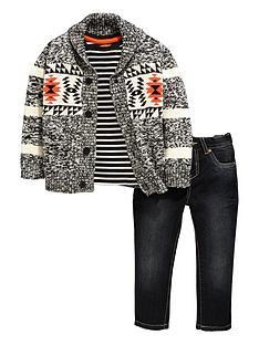 ladybird-boys-aztec-cardigan-t-shirt-and-jeans-set-3-piece