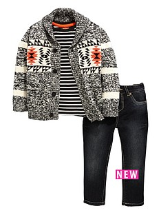 ladybird-boys-aztec-cardigan-t-shirt-and-jeans-set-3-piece