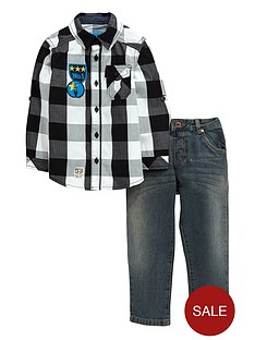 ladybird-boys-check-shirt-and-jeans-set