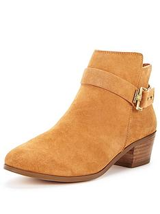miss-selfridge-suede-western-tan-ankle-boot