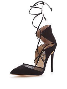 miss-selfridge-miss-selfridge-ghillie-tie-mesh-court-shoe