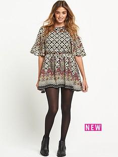 glamorous-glamorous-border-print-dress