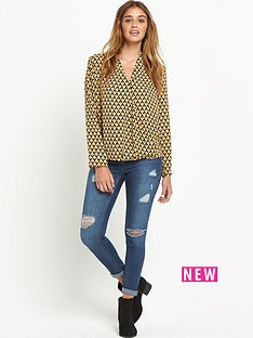 glamorous-long-sleeve-crossover-blouse