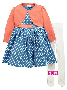 ladybird-toddler-girls-spot-dress-amp-cardigan-indigo-craft-amp-tights