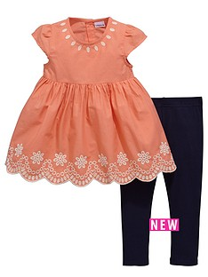 ladybird-toddler-girls-embroided-tunic-amp-legging-new