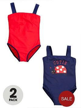 ladybird-girls-heritage-swimsuits-2-pack