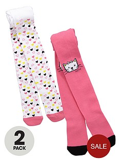 ladybird-girls-cute-cat-placement-tights-2-pack