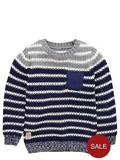 ladybird-boys-stripe-crew-neck-knitted-jumper