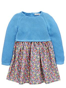 ladybird-girls-knitted-and-floral-dress