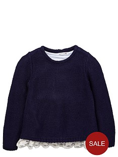 ladybird-girls-lace-hem-knitted-jumper
