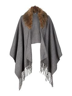 solid-colour-detachable-faux-fur-cape