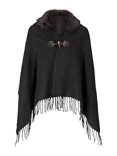 girls-fur-trim-woven-cape