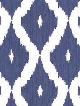 graham-brown-kelly-hoppen-kellys-ikatnbspwallpaper-white-and-blue
