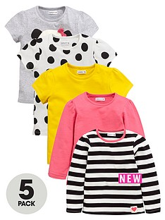 ladybird-girls-pop-panda-t-shirts-5-pack