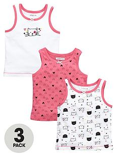 ladybird-girls-cute-cat-vests-3-pack