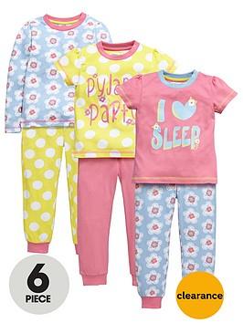 ladybird-girls-pretty-floral-pyjamas-set-6-piece