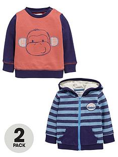 ladybird-baby-boys-hoodienbspand-monkey-sweater-2-pack