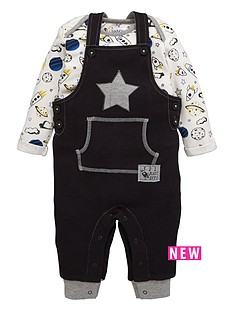ladybird-baby-boys-jersey-dungarees-and-space-print-t-shirt-2-piece