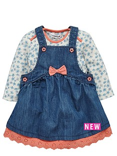 ladybird-baby-girls-denim-pinafore-and-floral-bodysuit-set