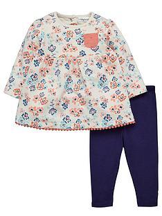ladybird-baby-girls-floral-sweat-dress-and-leggings-set-2-piece