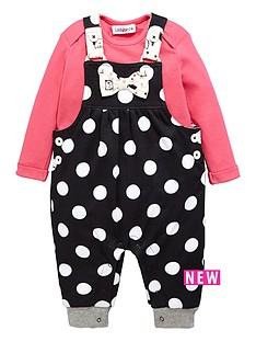 ladybird-baby-girls-polka-dot-jersey-dungaree-amp-ls-t-shirt-set