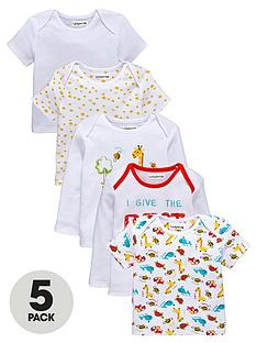 ladybird-baby-unisex-printed-long-and-short-sleeve-t-shirts-5-pack
