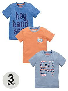 ladybird-boys-aztec-and-slogan-t-shirts-3-pack
