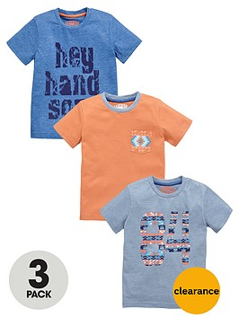 ladybird-boys-aztec-and-slogan-t-shirts-3-pack