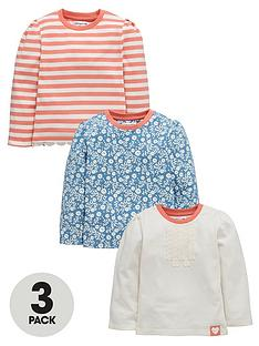 ladybird-girls-floral-and-frill-long-sleeve-t-shirts-2-pack