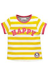TODDLER GIRLS ESSENTIAL YELLOW STRIPE SINGLE TEE