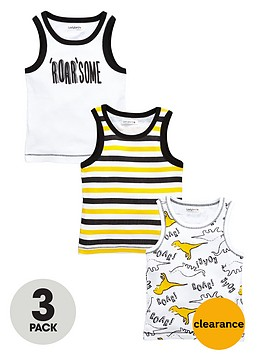 ladybird-boys-roarsomenbspribbed-vests-3-pack