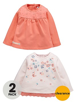 ladybird-baby-girls-floral-sweat-tops-2-pack