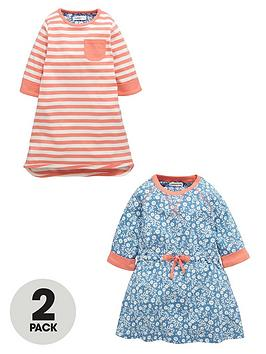 ladybird-girls-stripe-and-floral-jersey-dresses-2-pack